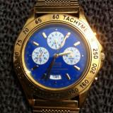 Ceas barbatesc Lorus Gold original by Seiko,alarm-chronograph,impecabil.