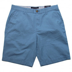 Pantaloni Scurti TOMMY HILFIGER - Pantaloni Chino Barbati - 100% AUTENTIC - Pantaloni barbati, Marime: 33, Culoare: Albastru, Bumbac