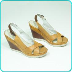 NOI → Sandale dama, din piele, platforma, usoare, LASOCKI ® CCC → femei | nr. 41, Culoare: Bej, Piele naturala