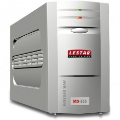 Lestar UPS MD-855 800VA/480W AVR 3xIEC + 1xIEC printer USB RJ 11 GREY