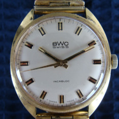Ceas BWC (Buttes Watch Company), mecanic, Swiss Incabloc, de colectie - Ceas de mana