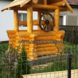 Fantana din lemn Rotund