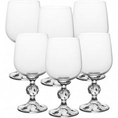 Set 6 pahare vin rosu cristalit 230 ml Bohemia, Klaudie collection