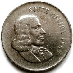 BRITISH SOUTH AFRICA, 20 CENTS 1965, ENGLISH LEGEND, PRIMUL AN DE BATERE 24mm., Crom