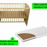Patut fara sertar KLUPS Karolina II+Saltea 10cm - Patut lemn pentru bebelusi
