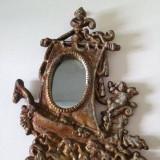 Oglinda metal aliaj neferos usor, argintiu, vechi, vintage, decor