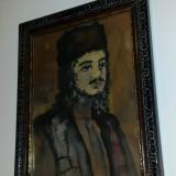 """Tablou - Portret """" Tigan oltean """" - Ghelman Lazar - Pictor evreu - Tablou autor neidentificat, Peisaje, Carbune, Altul"""