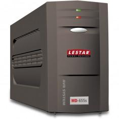 Lestar UPS MD-655s 625VA/375W AVR 1xSCH + 1xIEC USB RJ 11 BLACK
