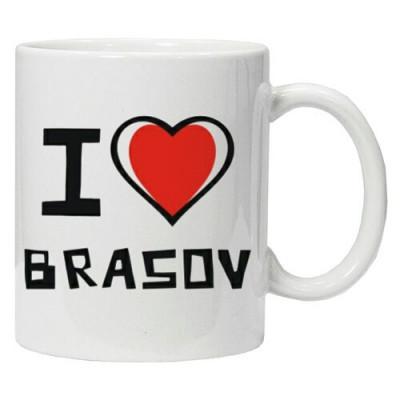 Cana personalizata I Love Brasov cana ceai, cana cafea foto