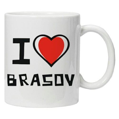 Cana personalizata I Love Brasov cana ceai, cana cafea foto mare