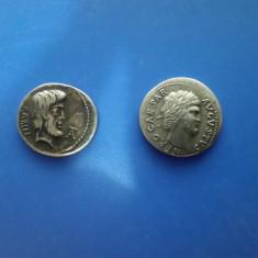 Lot 2 monede romane replici - NERO CAESAR AUGUSTUS, SARIN -nu le atrage magnetul, Europa