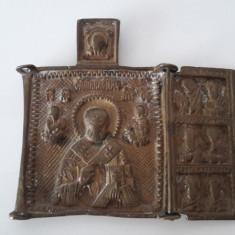 Triptic vechi din bronz (incomplet) - Icoana din metal