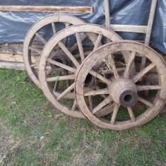 Roti de caruta, roti de lemn