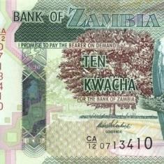ZAMBIA 10 KWACHA 2012 * P 51a * UNC - Necirculata