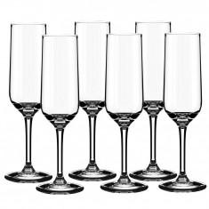 Set pahare sampanie sticla Alpina, 6x220 ml, 64280