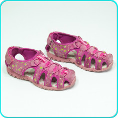 DE CALITATE → Sandale din piele, comode, aerisite, GREENIES → fete | nr. 32 - Sandale copii, Culoare: Din imagine, Piele naturala