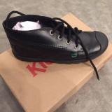 Pantofi/ ghete Kickers Plunk 39 - 40 din piele naturala - Ghete dama, Culoare: Negru