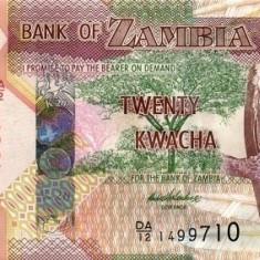 ZAMBIA 20 KWACHA 2012 * P 52a * UNC - Necirculata