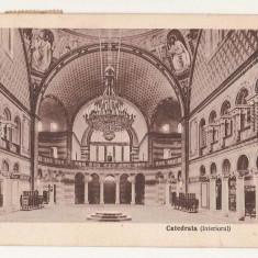 Sibiu Catedrala interiorul - Carte Postala Transilvania dupa 1918, Circulata, Printata