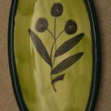 Vas mic de ceramica pictata manual pentru servit masline