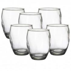Set 6 pahare sticla, Alpina, 350 ml
