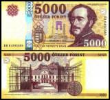 !!!  RARR :  UNGARIA - 5.000 FORINTI 2016 - P NEW - UNC / SERIA BA