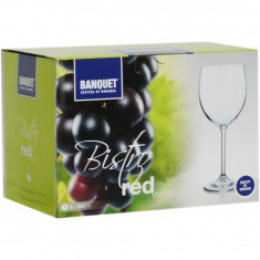 Set 6 pahare cristal vin rosu 350 ml, Bohemia, Banquet collection