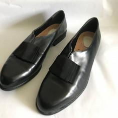 Pantofi de dama din piele mar.40 - Pantofi barbat Adidas, Culoare: Negru, Piele naturala