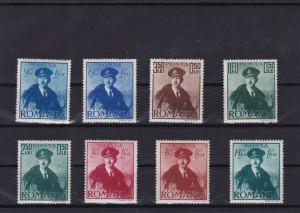 ROMANIA 1940  LP 138  CAROL II CU PELERINA  SERIE  MNH
