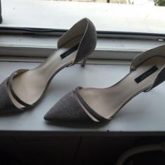 Pantofi zara - Pantof dama Zara, Culoare: Gri, Marime: 41