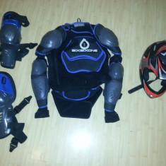 Casca si armura/protectie coloana completa pt bicicleta/downhill/motocicleta - Protectii moto