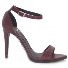 Sandale Versace - Sandale dama Versace, Culoare: Burgundy, Marime: 37