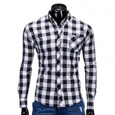 Camasa barbati k282 negru, Marime: S, M, L, XL, XXL, Culoare: Bleumarin, Maneca lunga