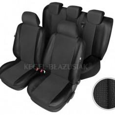 Set huse scaun model Centurion pentru Dacia Logan Mcv, culoare negru, set huse auto Fata si Spate