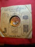 Disc His Master's Voice - Foxtrot ,voce Will Glahe- Gramophon CoLtd interbelic