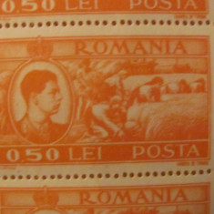 PVM - Coala 50 timbre rege Mihai I emisiunea 1947 valoarea 0,50 lei MNH