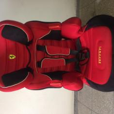 Scaun auto copii FERRARI, 1-2-3 (9-36 kg), In sensul directiei de mers, Isofix