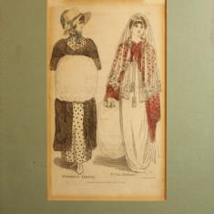 TABLOU, MODA - Tablou autor neidentificat, Portrete, Carbune, Altul