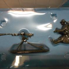 Figurina metalica METRALLADOR + AMETRALLADORA HOTCHKISS 1914-18 1:32