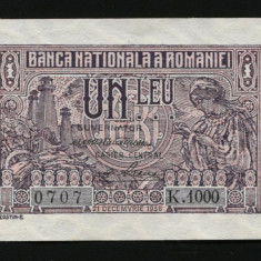 X891 ROMANIA 1 LEU 1938 aUNC - UNC - Bancnota romaneasca