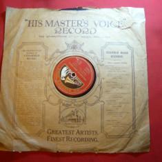 Disc vechi His Master's Voice -voce Michele Fleta-tenor - Ay, Ay Ay si Henchido.. - Muzica Blues, VINIL
