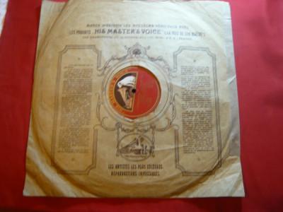 Disc vechi His Master's Voice -Fr. Kreisler interpreteaza Rahmaninov pian foto