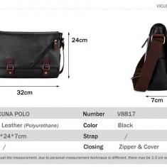 POLO VICUNA - geanta laptop, business lux din piele  PU 32x24x7 cm