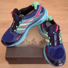 Salomon XR Mission Trail Running Shoes - Adidasi dama Salomon, Culoare: Albastru, Marime: 39 1/3
