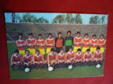 Ilustrata cu Echipa Nationala  Fotbal  a Romaniei , color