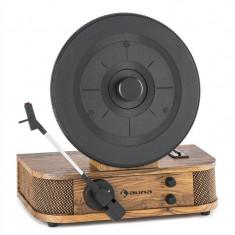 Auna VERTICALO S, gramofon cu aspect retro, farfurie verticală de gramofon, USB, MP3, ieșire de linie