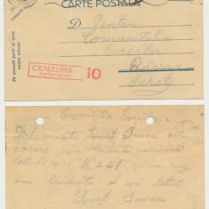 Romania Iudaica 1942 carte postala P. Neamt catre Comunitatea Evreilor Rm Sarat