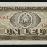 X895 ROMANIA 1 LEU 1966 aUNC APROAPE NECIRCULATA - Bancnota romaneasca