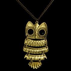 Pandantiv Bufnita Bijuterie Dama Vintage Owl