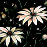 Tablou/Pictura in ulei  - Flori si cristale
